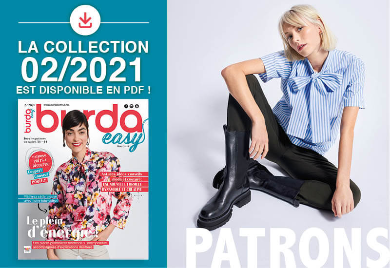 La collection de patrons PDF de burda easy n° 02/2021 est en ligne !