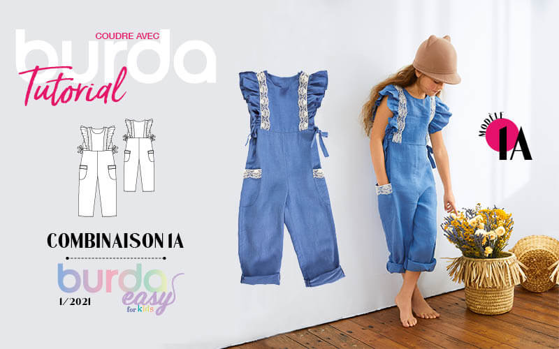 Tuto-vidéo : combinaison 1A - burda easy for kids n°1/2021